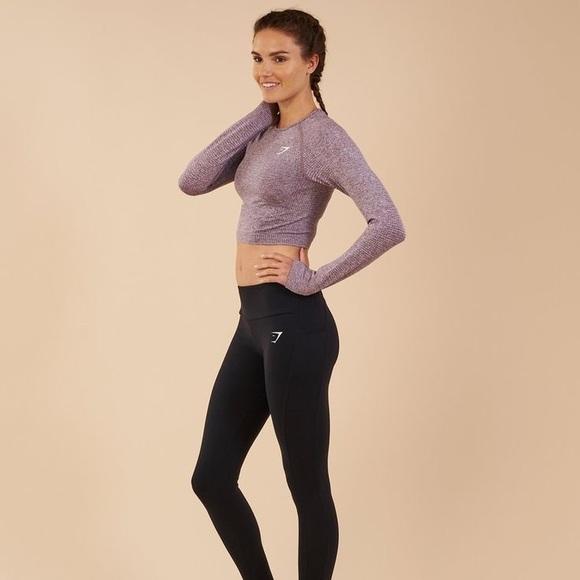 888faac6fb Gymshark Vital Seamless Long Sleeve Crop Purple